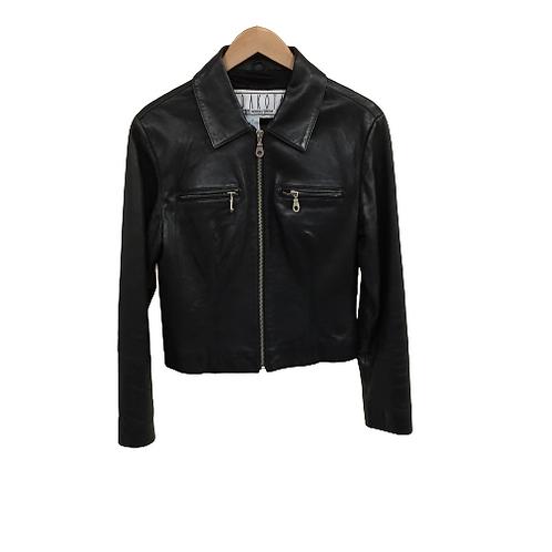 B.B. Dakota Zip Up Black Jacket Size M