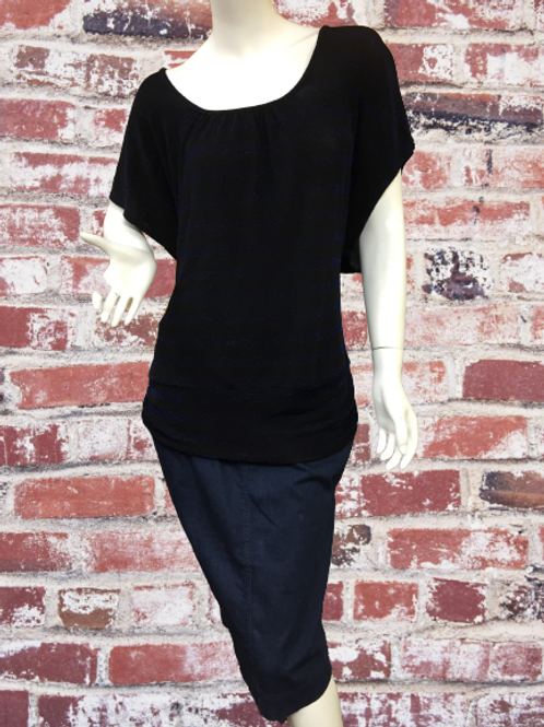 Blue & Black Open Back Top Size XL