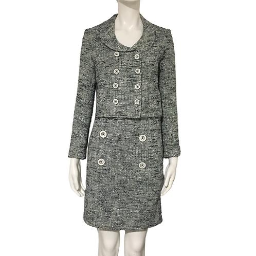 Women Grey Skirt Suit Size S-M