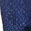 Thumbnail: Blue Lace Pattern Skirt Size M-L