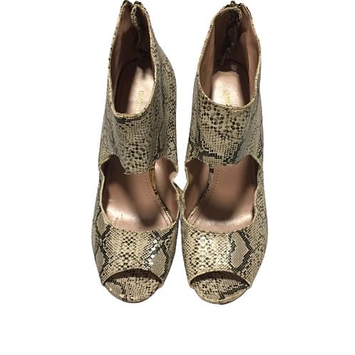 H&M  Snake Skin Ankle Heels Size 8