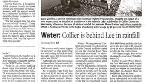 Naples Newspaper Feature: New Water Pump for Valencia Lakes Subdivision