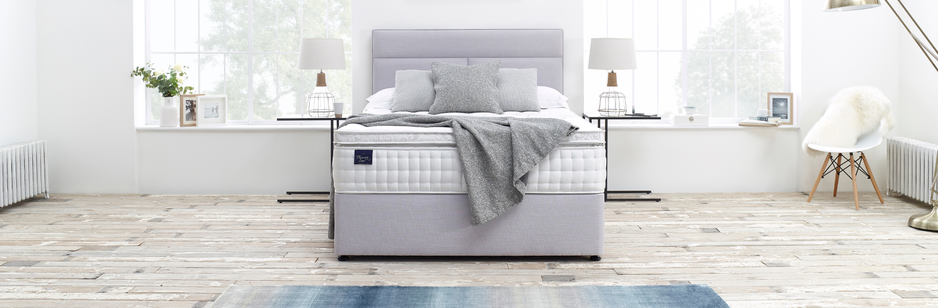 Slumberland Platinum Seal Bed in Grey