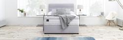 Slumberland Platinum Seal Bed in Grey