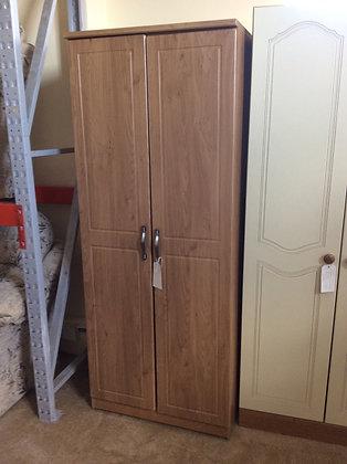 Oak Style Double Hanging Wardrobe