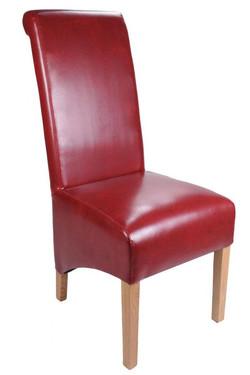 Krista Crib 5 Burgundy Leather Chair