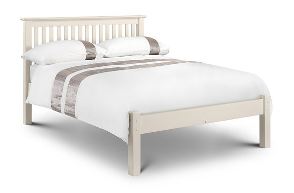 Barcelona Bed 150cm - Low Foot End - Stone White