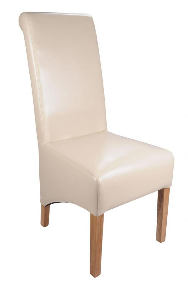 Krista Crib 5 Ivory Leather Chair