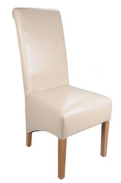 Krista Crib 5 Ivory Leather Chair