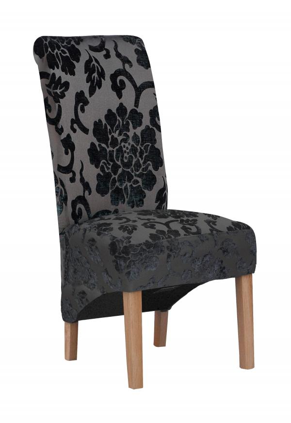 Krista Baroque Black Dining Chair