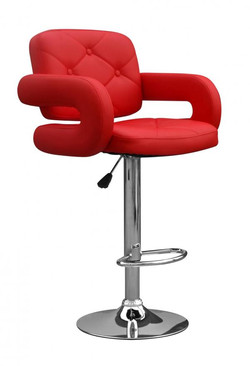 Colby Leather Match Red Bar Stool
