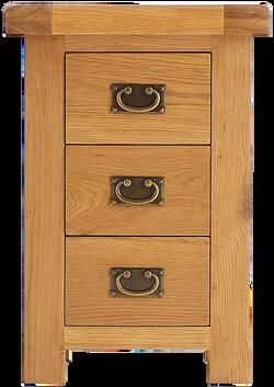 Sherwood Oak Large 3 Drawer Bedside