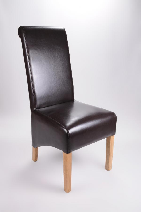 Krista Bonded Leather Brown Chair