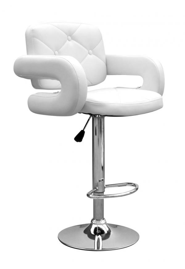Colby Leather Match White Bar Stool