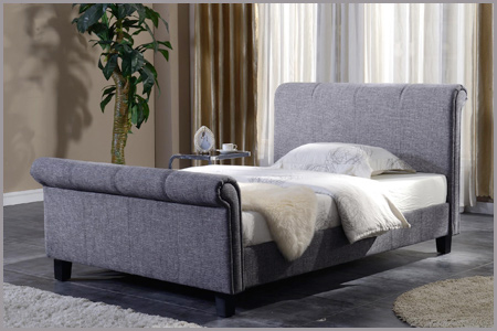 Brynford Sleigh - Fabric Bed