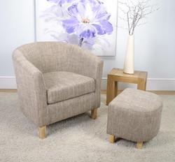 Tweed Tub Chair Set