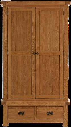 Sherwood Oak 2 Door 2 DrawerWardrobe