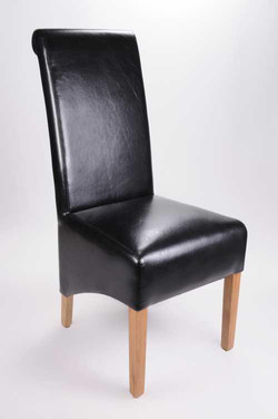 Krista Bonded Leather Black Chair