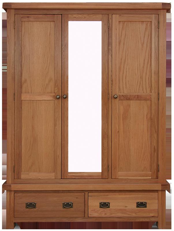 Sherwood Oak 3 Door Wardrobe Mirror