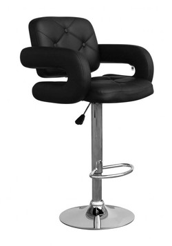Colby Leather Match Black Bar Stool