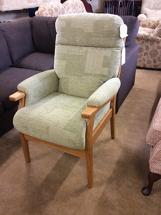 Cintique Wooden Framed Easy Chair - Sage