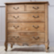 Chic 5 Drawer Chest Weathered 970W x 570