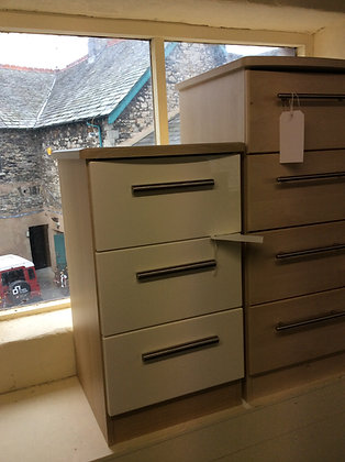 3 Drawer Gloss Bedside