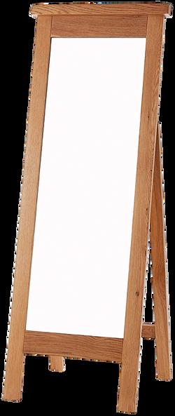 Sherwood Oak Cheval Mirror