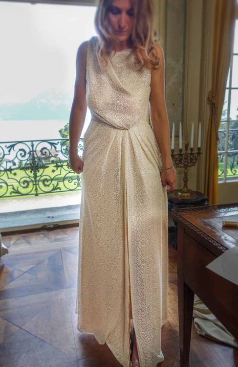 Goldenes Abendkleid Bernina