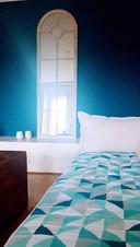 Eine Quilt passend zur Wandfarbe