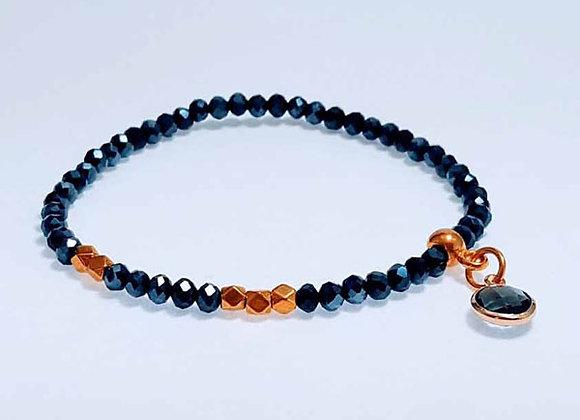 Armband aus Glas Facett Perlen