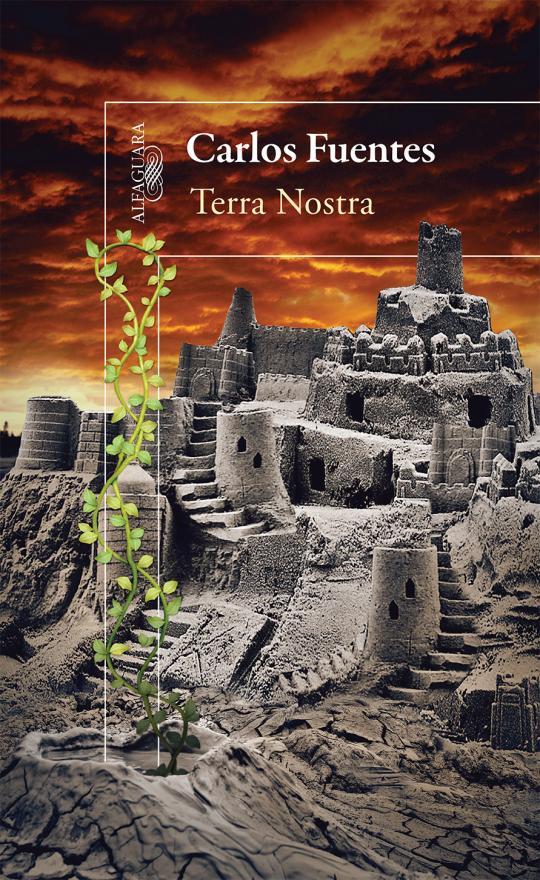 """Realización de la portada """"Terra Nostra"""", del autor de Carlos Fuentes, Editorial Alfaguara."""