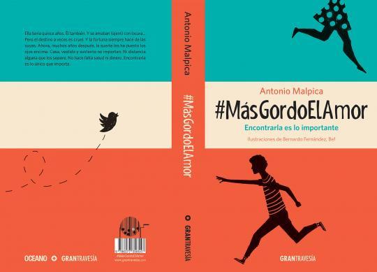 Para #MásGordoElAmor, enfocado a lectores adolescentes, el proyecto abarca la totalidad de los forros.