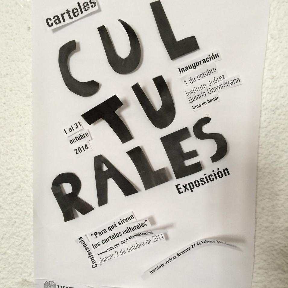 El taller incluyó el diseño de un cartel cultural.