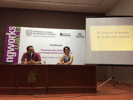 Para finalizar la jornada, Astrid Velasco y yo impartimos conferencias.