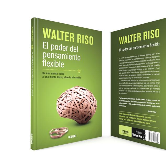 """Realización de la portada """"El poder del pensamiento flexible"""", del autor Walter Riso, de Editorial Océano."""