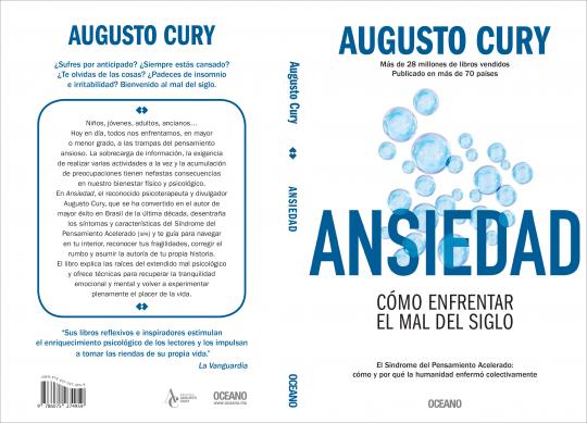 """""""Ansiedad"""", un libro de Agusto Cury, de Editorial Océano."""