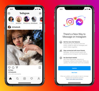 New Messaging Features, like vanity soon available on Instagram and Messenger