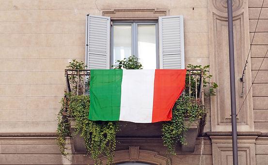 Europe, Italy , Milan - Flag of Italy h