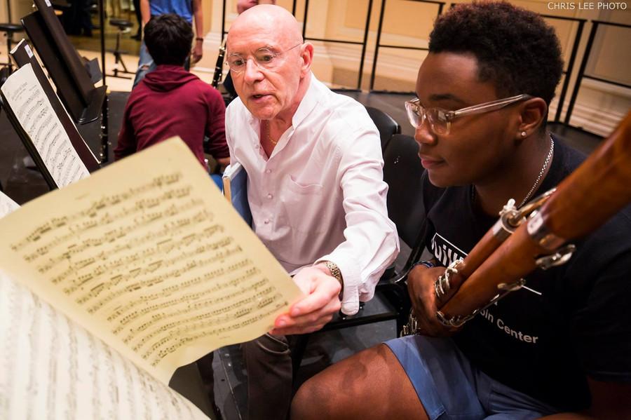 Joshua and Maestro Christoph Eschenbach, 2016.