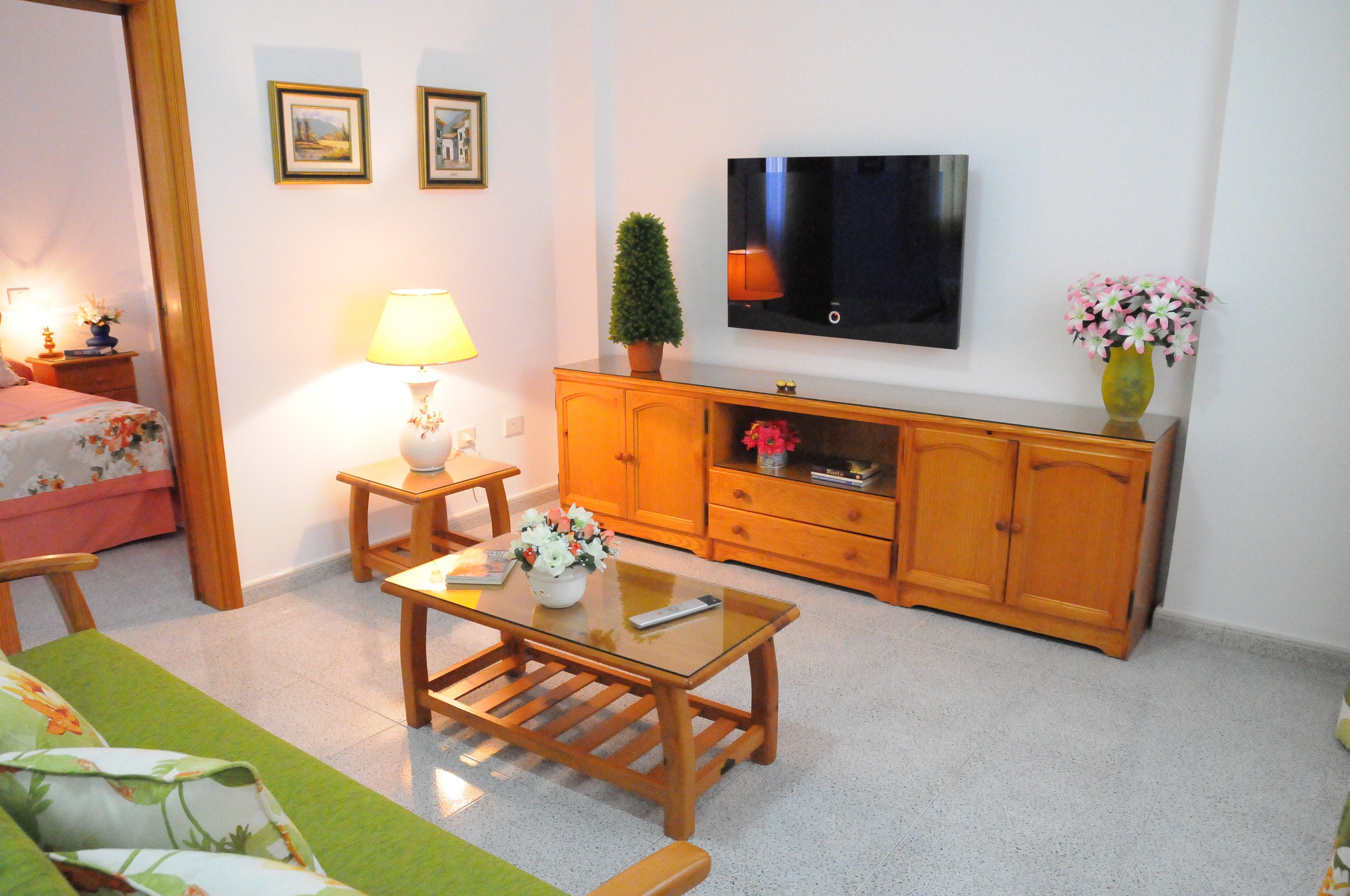 Living Room and satellite TV