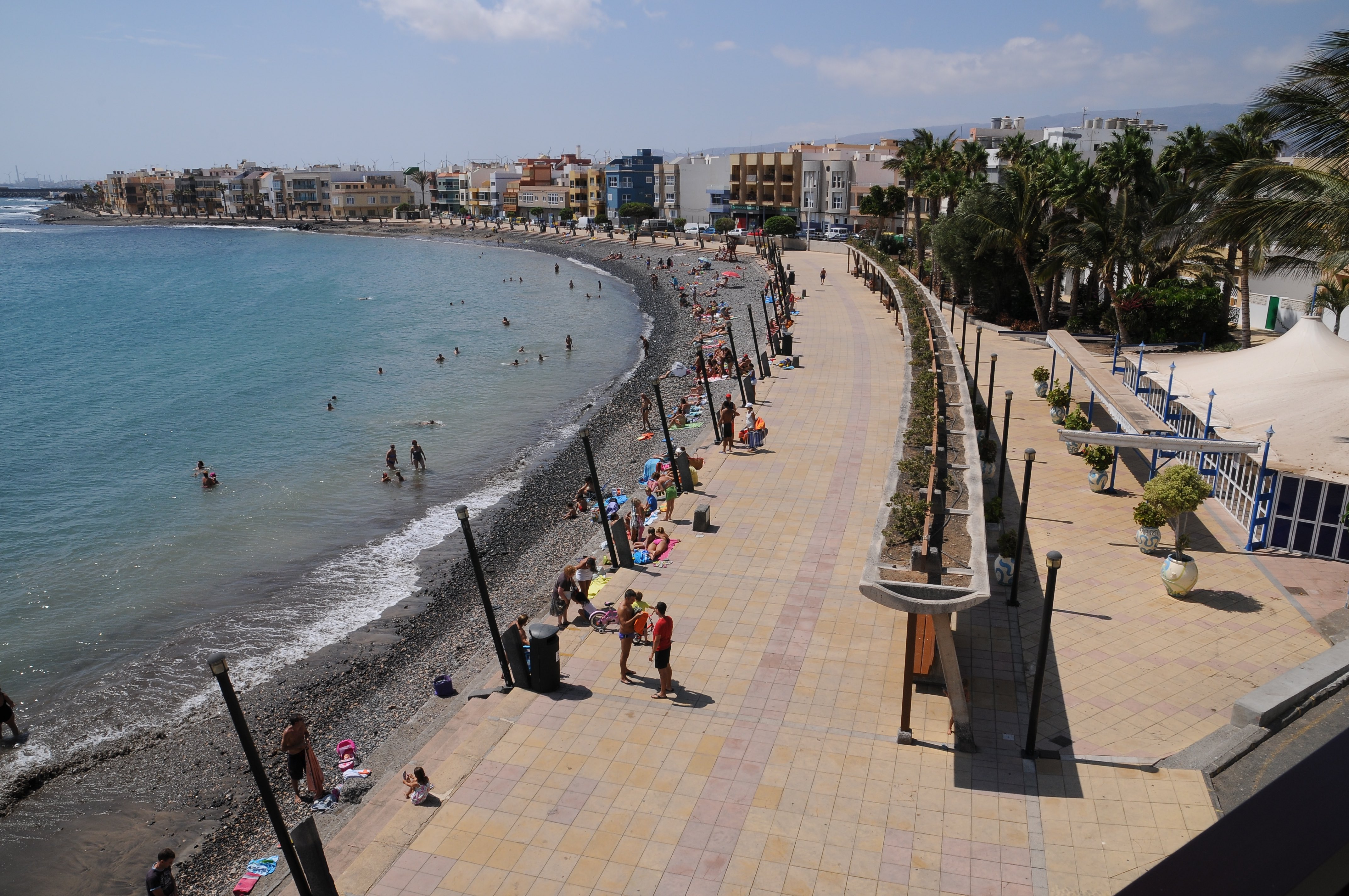Avenue of Playa de Arinaga