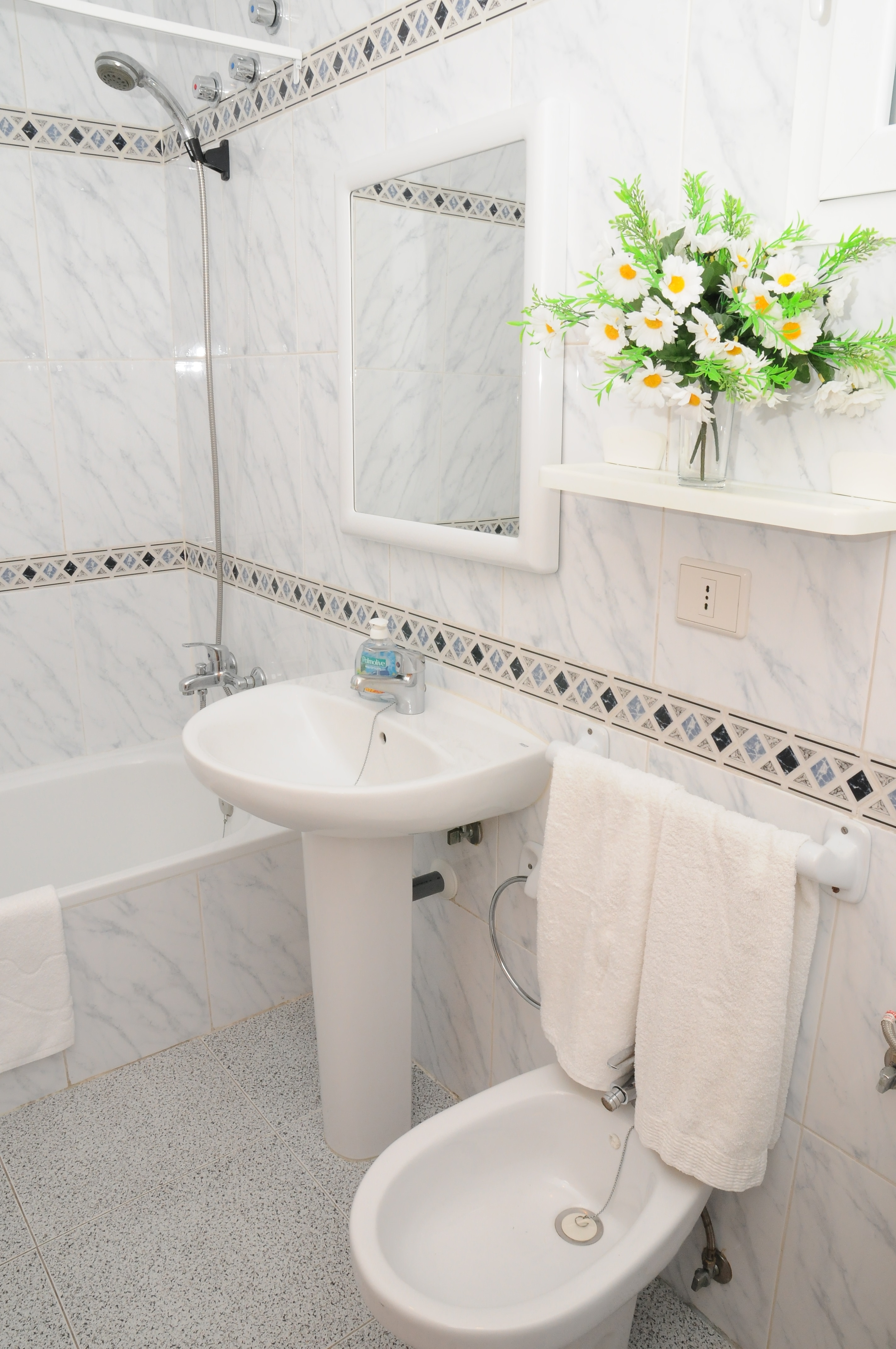Toilet with bath and bidet
