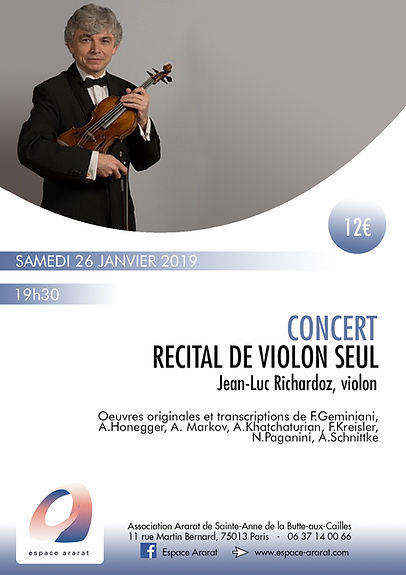 Concerts 26 janvier 2019 - JL Richardoz.
