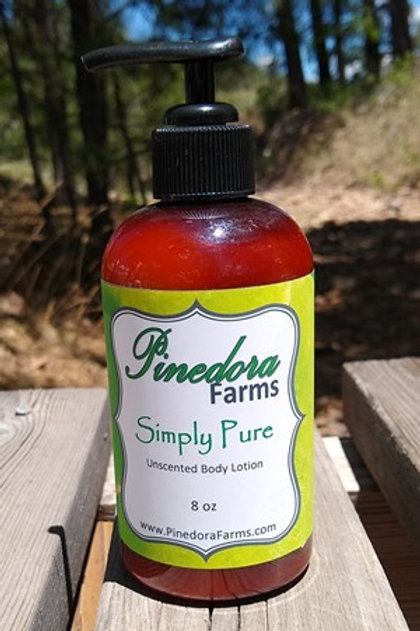 Simply Pure unscented body lotion