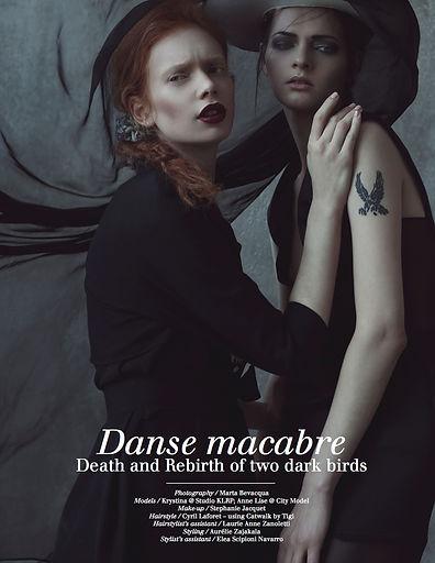 Danse Macabre editorial photo pour Dark Beauty Magazine, photographie par Marta Bevacqua , Stylisme Aurélie Zajakala