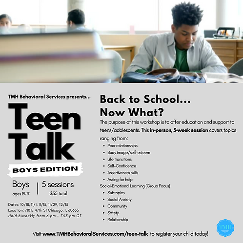Teen Talk: Boys