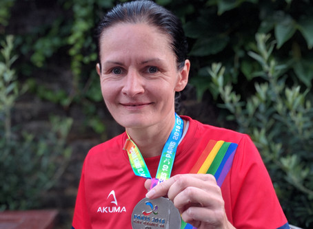 Mel is back from the Gay Games in Paris  with a silver medal!