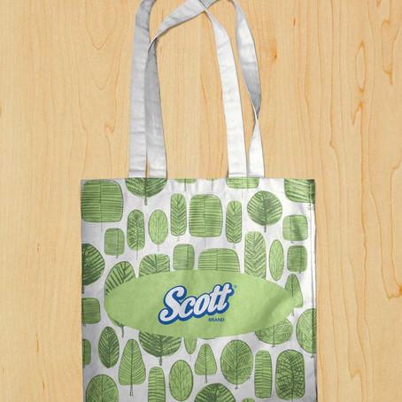 Дизайн оформления сумки для торговой марки Scott