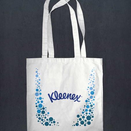 Дизайн оформления сумки для торговой марки Kleenex